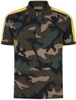 Valentino Camouflage Stripe Polo Shirt