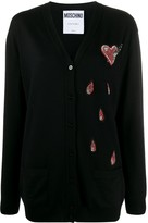 Moschino beaded heart cardigan