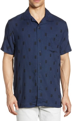 Onia Vacation Pineapple Print Short Sleeve Shirt