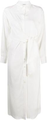 P.A.R.O.S.H. Tie-Waist Silk Dress