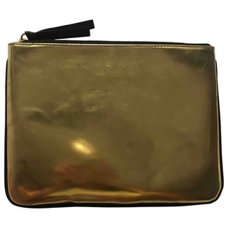 Givenchy Gold Leather Clutch bags