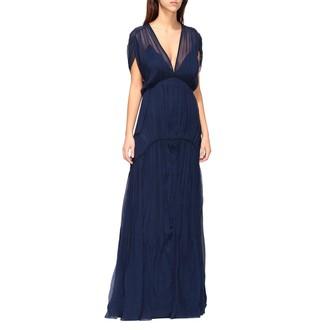 Alberta Ferretti Long Dress In Chiffon