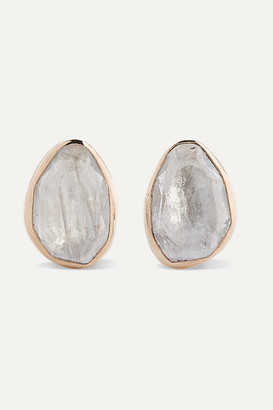 Melissa Joy Manning + Net Sustain 14-karat Gold, Sterling Silver And Moonstone Earrings - one size