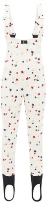MONCLER GENIUS Star-embroidered Salopettes - Womens - White Multi