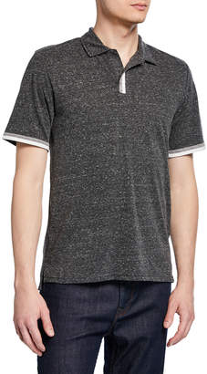 Threads For Thought Men's Short-Sleeve Earl Tri-Blend Polo Shirt