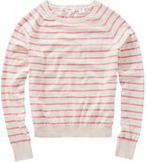 Levi's Women's Striped Long Sleeve Sweat Shirt