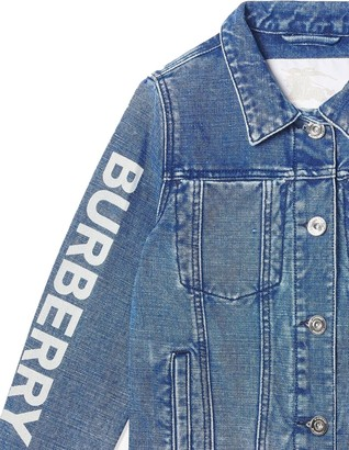 Burberry Kids Logo Print Denim Jacket