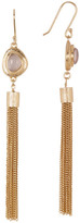 Cole Haan 12K Gold Plated Stone Fringe Drop Earrings