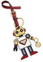 Prada Leather Robot Keychain