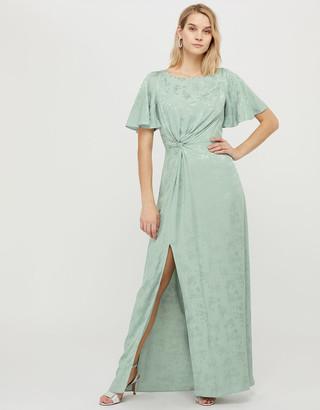 Under Armour Ellinor Satin Jacquard Maxi Dress Green
