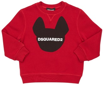 DSQUARED2 Ciro Logo Print Cotton Sweatshirt