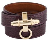 Givenchy Obsedia Leather Triple Wrap Bracelet