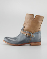 Alberto Fermani Two-Tone Buckled Ankle Boot