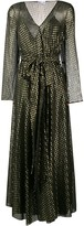 RED Valentino Embroidered Lame Long Dress