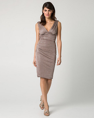 Le Château Sparkle Knit V-Neck Cocktail Dress
