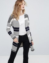 Only Pearl Long Stripe Cardigan