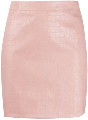 Andamane Croc-Effect Mini Skirt