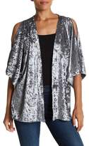 Steve Madden Crushed Velvet Cold Shoulder Jacket