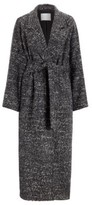 HUGO BOSS - Regular Fit Coat With Oversize Lapels In Tweed Boucle - Patterned