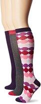 Betsey Johnson Women's Ombre Dots Knee-High Socks 3-Pack