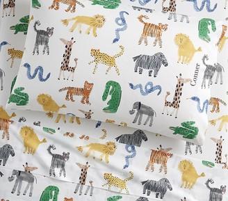 Pottery Barn Kids Organic Silly Safari Sheet Set