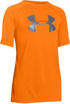 Under Armour Boys' Solid Logo Tech Tee