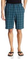 Haggar Men's Cool 18 Yarn Dye Plaid Plain-Front Short