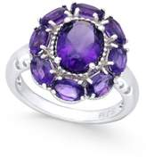 Macy's Amethyst Flower Ring (5 ct. t.w.) in Sterling Silver