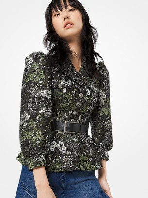 Michael Kors Floral Brocade Admirals Jacket