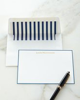 Boatman Geller Correspondence Cards Hand Bordered in Navy with Personalized Envelopes