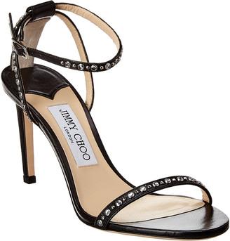Jimmy Choo Minny 85 Leather Sandal