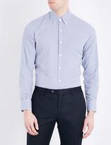Canali Gingham check regular-fit cotton shirt