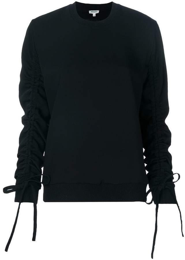 Kenzo drawstring sleeve sweatshirt