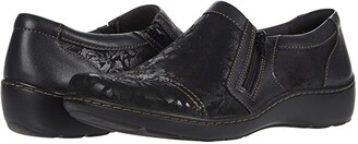 Clarks Cora Giny (Black Textile/Leather Combination) Women's Shoes