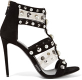 Nicholas Kirkwood Caspia pearl and stud-embellished suede and PVC sandals