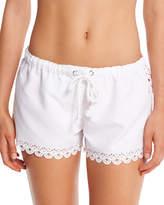 Seafolly Bella Cutout-Trim Board Shorts, White