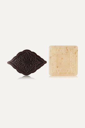 Senteurs D'orient Ma'amoul Soap Amber And Almond Exfoliant Refill Duo