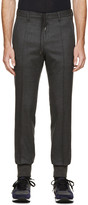 Wooyoungmi Grey Wool Cuffed Trousers
