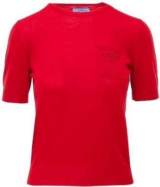 Prada Logo Knitted T-Shirt