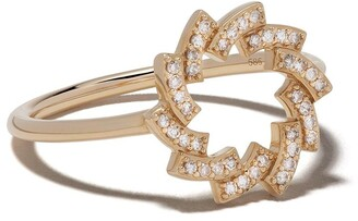 Astley Clarke 14kt yellow gold Icon Scala Cirque diamond ring