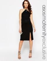 Asos Chain Necklace Bodycon Midi Dress