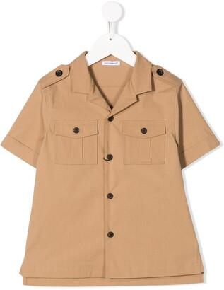 Dolce & Gabbana Kids Parrot-Print Safari-Style Shirt