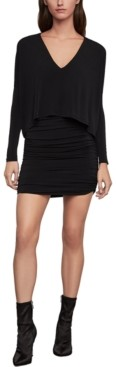 BCBGMAXAZRIA Draped Overlay Dress