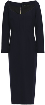 Roland Mouret Ardon Stretch-crepe Midi Dress