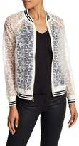 Harlowe & Graham Embroidered Lace Bomber Jacket