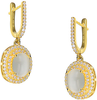 Genevive 14K Over Silver Cz Drop Earrings