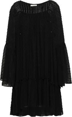 Ulla Johnson Gathered Fil Coupe Silk And Cotton-blend Mini Dress