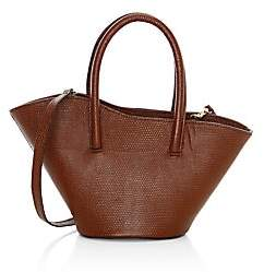 Little Liffner Women's Micro Tulip Lizard-Embossed Leather Tote