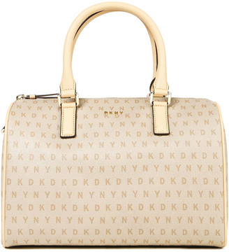 DKNY Monogram-print Faux Textured-leather Tote