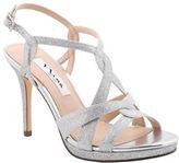 Nina Raeni Glitter Fabric Platform Sandals